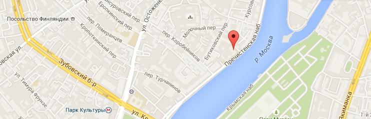 Ресторан Beefbar Moscow. Расположение на карте